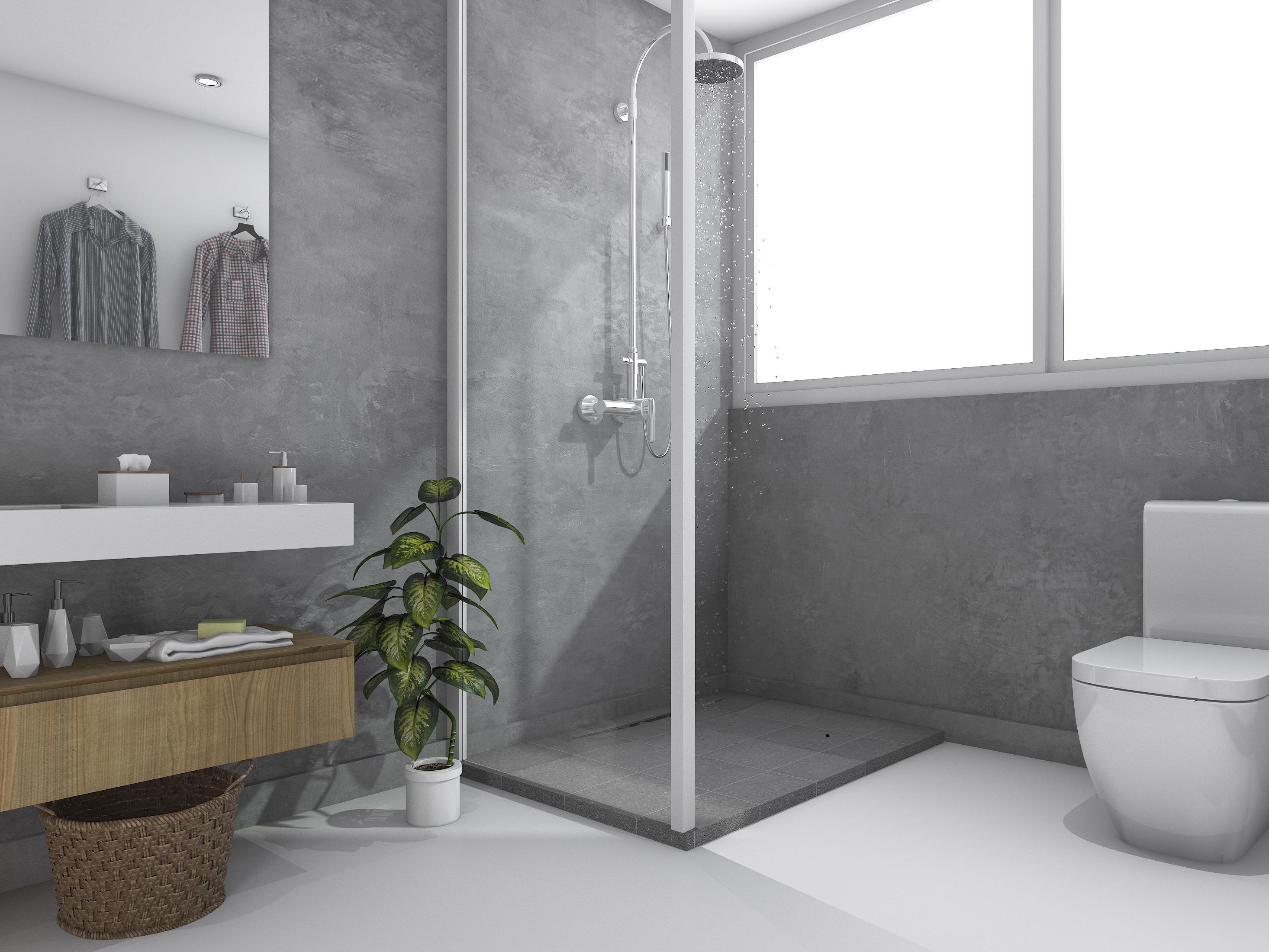 Hybrid b ton b ton fin sols et murs senideco - Sol beton cire salle de bain ...